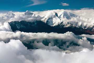 view from langtang to ganesh himal