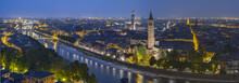 Verona in twilight's in Italy