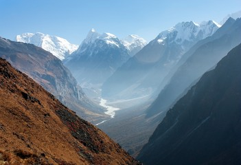 View of Langtang valley, Nepal