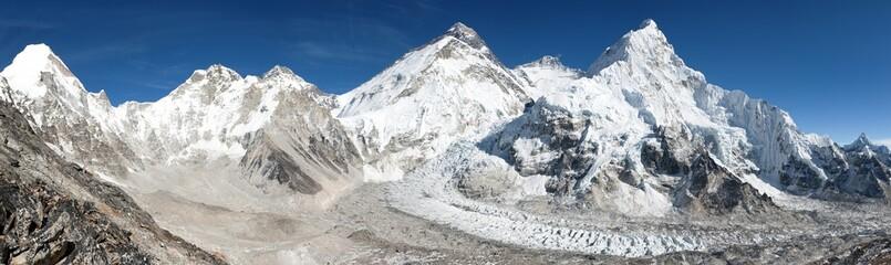 Beautiful view of mount Everest, Lhotse and nuptse