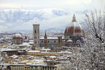 Firenze sotto la neve.