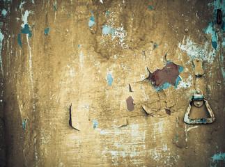 old rusty metallic door texture