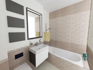 a 3d render of a modern bathroom