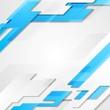 Blue grey hi-tech geometric vector bright background