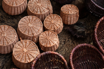 Group of braided baskets