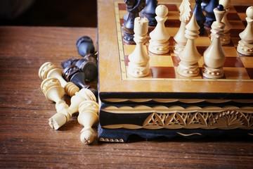 chessboard figure game confrontation