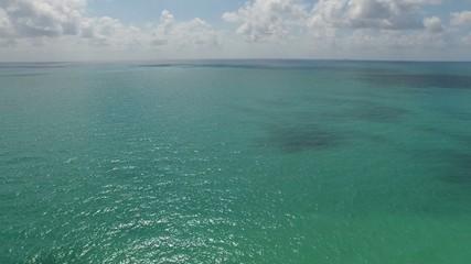 Aerial ocean flyover