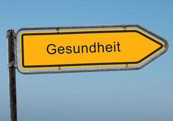 Strassenschild 38 - Gesundheit