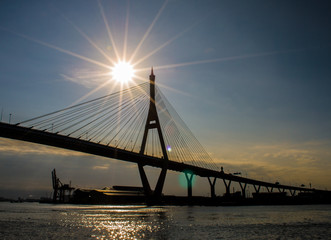 bridge and sun rise