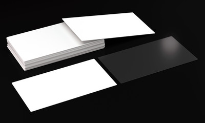 visit card mockups on dark background