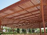 Big classical wooden pergola arbor