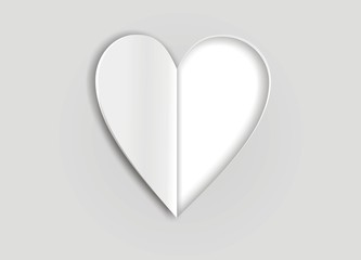 illustration of hearts cut from paper
