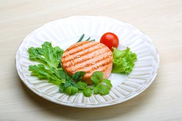 Salmon burger cutlet