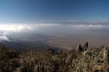 Desert climate above the clouds, La Serena, Chile.