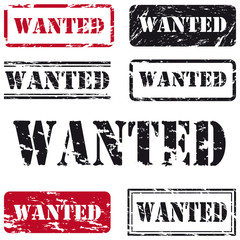 Stempelset Wanted in Grungeoptik