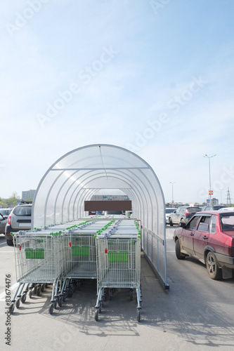 The image of a shop trolleys