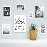 Summer, vocation, adventure, journey mood board. Hipster design