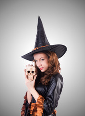 Witch isolated on the white background