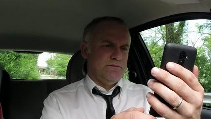 Portrait Of Happy Man Businessman Car Driver Smiling At Camera