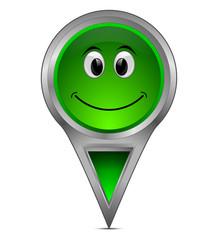 Pin Pointer mit lachendem Gesicht