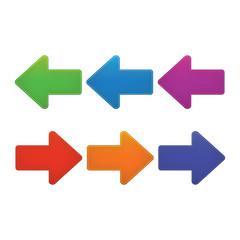 Design elements. Colorful arrows set.