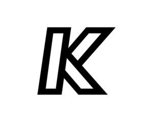 K logo black
