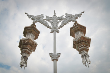 grand lantern on cloud background at Chiang rai,Thailand