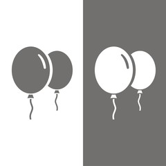 Icono globos BN