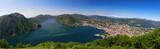 View to Lugano city, lake and Monte San Salvatore, Schweiz