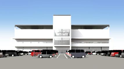 大駐車場完備のショッピングセンター