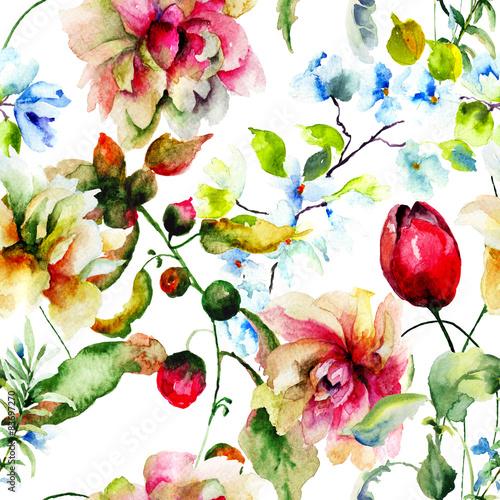 Materiał do szycia Dekoracyjne dzikie kwiaty