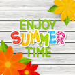 Sticker - Paper summer message for Your design