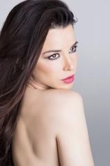 Beauty portrait of brunette woman
