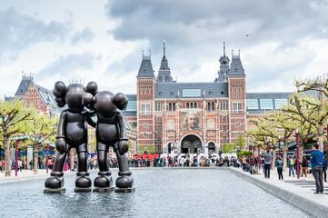 Art Sculpture in the Yard of The Rijksmuseum in Amsterdam
