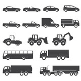 Fototapety car icons