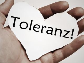 Papierherz - Toleranz!