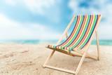 Deckchair, chair, beach. - 83730096