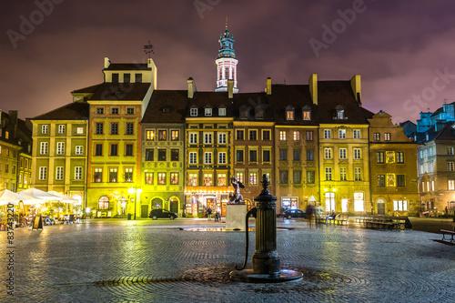 Fototapeta Old town sqare in Warsaw