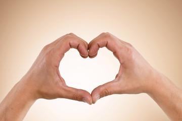 Hände Herz Liebe Form