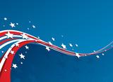 Fototapety American Flag, Vector patriotic background
