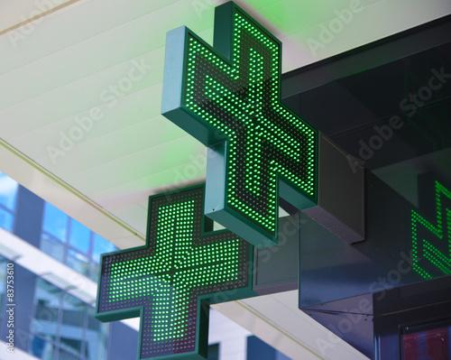 Papiers peints Pharmacie Croix verte de pharmacie