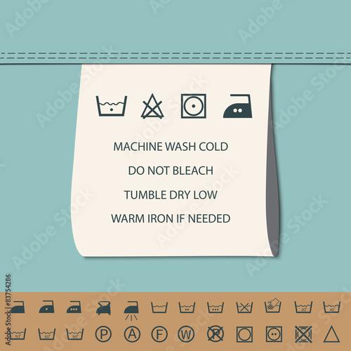 Clothing Label And Washing Symbol Buy Photos Ap Images Detailview