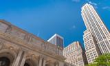 Fototapeta New York Public Library and surrounding skyline