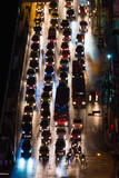 automobile congestion in the night poster