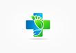 Постер, плакат: cross medic foot symbol vector Podiatry concept design