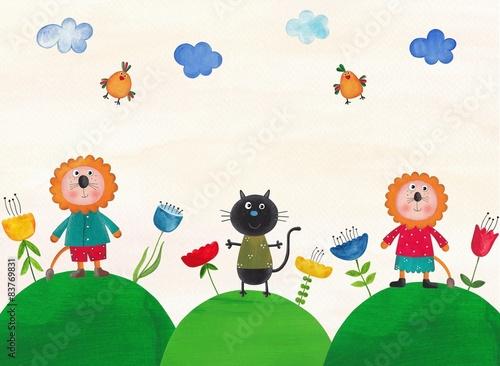 Naklejka Illustration for children