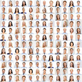 Fototapety collage with many business people portraits