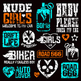 Car and biker culture badges