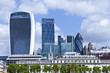 City of London cityscape with famous modern landmark skyscrapers