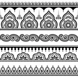 Mehndi, Indian Henna tattoo seamless pattern, design elements - 83803419